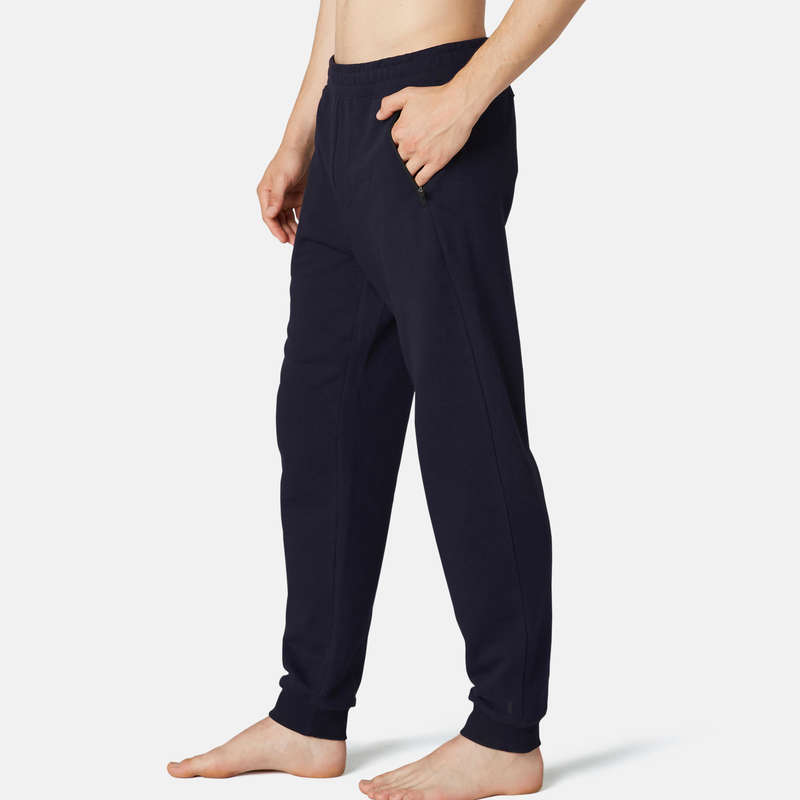 MAN GYM, PILATES COLD WEATHER APPAREL Activewear - Men's Regular Gym Bottoms 500 NYAMBA - Men