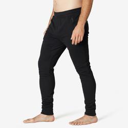 Men's Gym Trousers Slim Fit ZIP 500 - Black