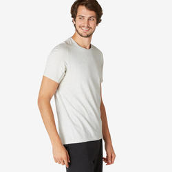 T-Shirt Sport Pilates Gym Douce homme 520 Regular Beige