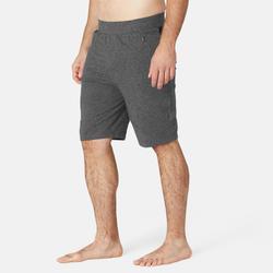 Men's Gym Shorts Stretch Slim Fit 900 - Dark Grey