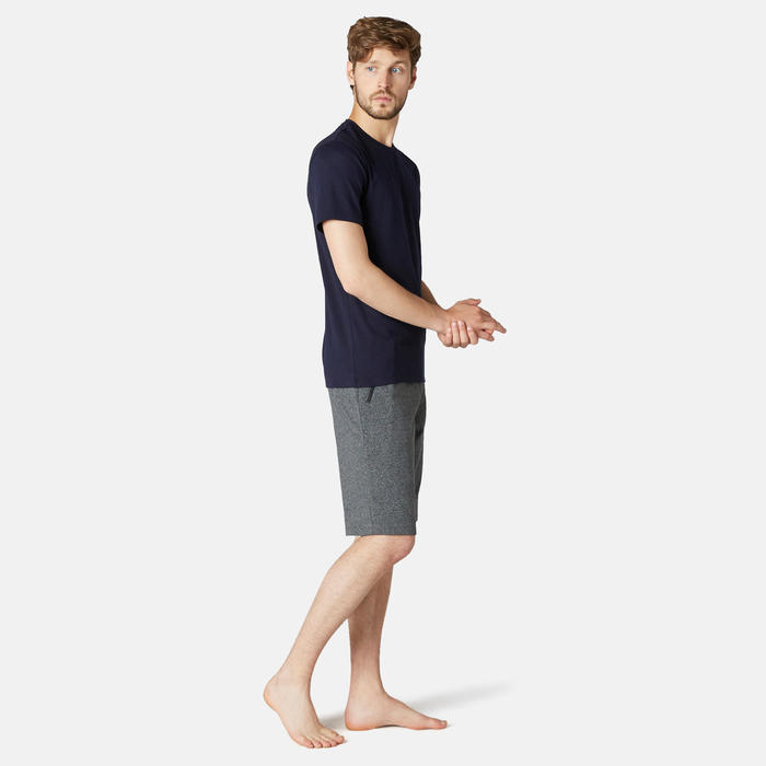 Men's Slim-Fit Long Sports Shorts 520 - Dark Grey Marl