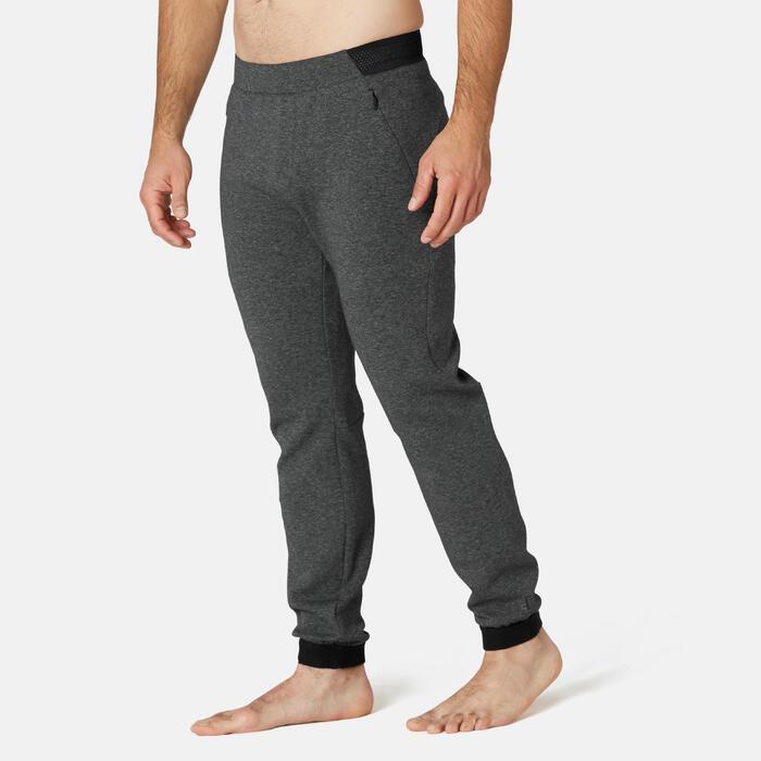 Broek voor work-out heren 540 slim fit spacer grijs