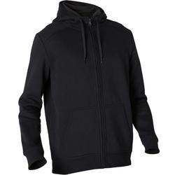 Veste à capuche zippée homme 900 noire