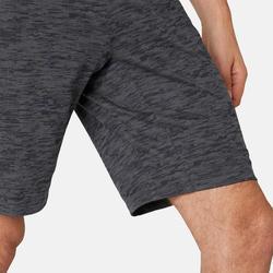 Shorts kurz 520 Regular Gym & Pilates Herren grau mit Print