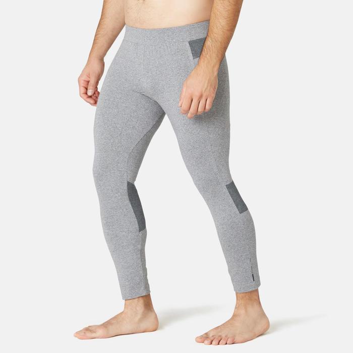 男款皮拉提斯與溫和健身7/8分運動緊身褲 - 灰色