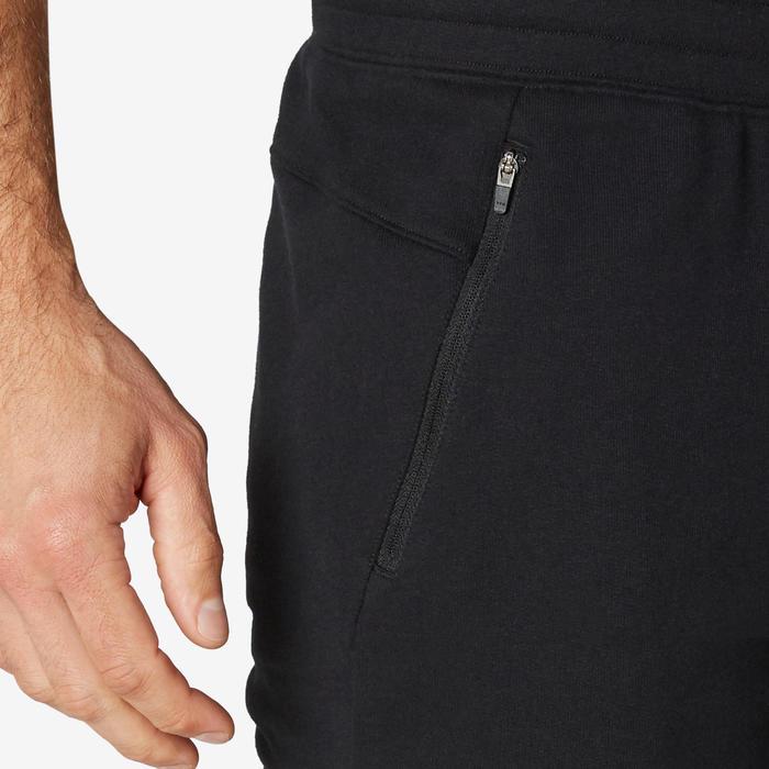 男款修身訓練長褲500 - 黑色