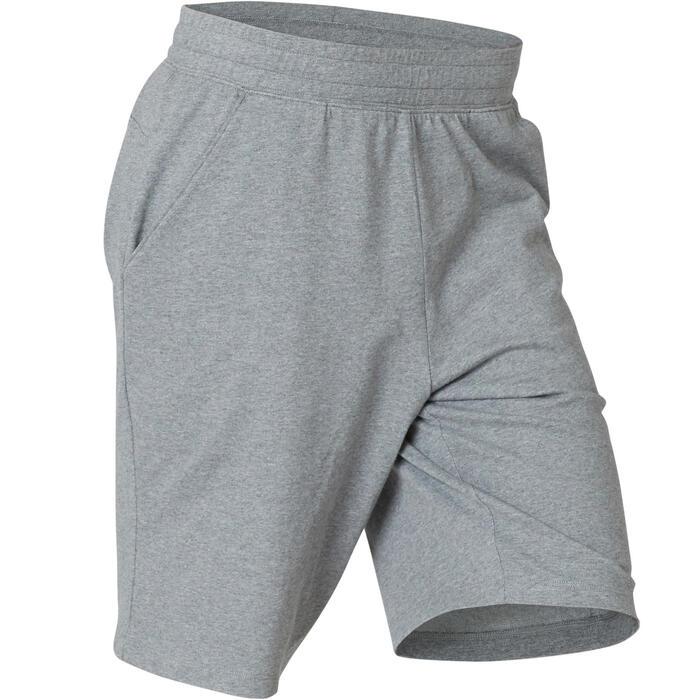 男款長版運動短褲500 - 雜灰色