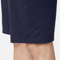Short Sport Pilates Gym Douce homme 500 Long Regular Bleu Marine