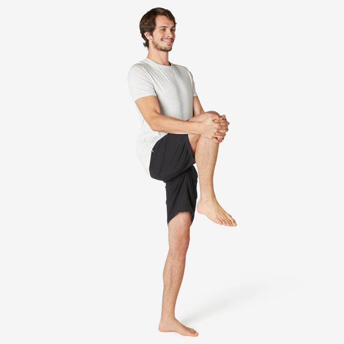 T-shirt voor pilates en lichte gym heren 520 regular fit beige
