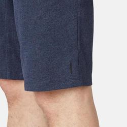 Lange short voor pilates en lichte gym heren 520 lang slim fit zwart