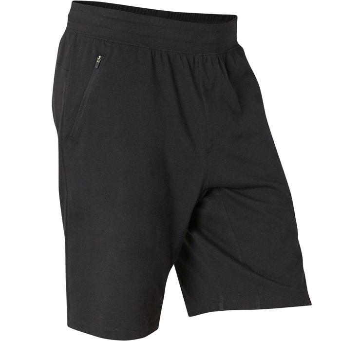 Men's Regular-Fit Long Pilates & Gentle Gym Sport Shorts 520 - Black