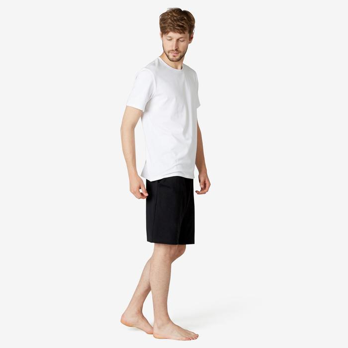 男款長版運動短褲500 - 黑色