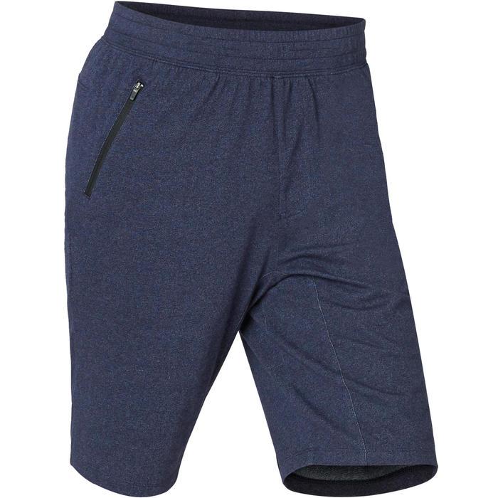 Men's Slim-Fit Long Pilates & Gentle Gym Sport Shorts 520 - Blue