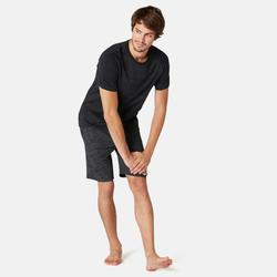 Short voor pilates en lichte gym heren 520 lang regular fit grijs/print
