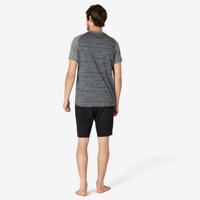 Short voor pilates en lichte gym heren 520 lang regular fit zwart
