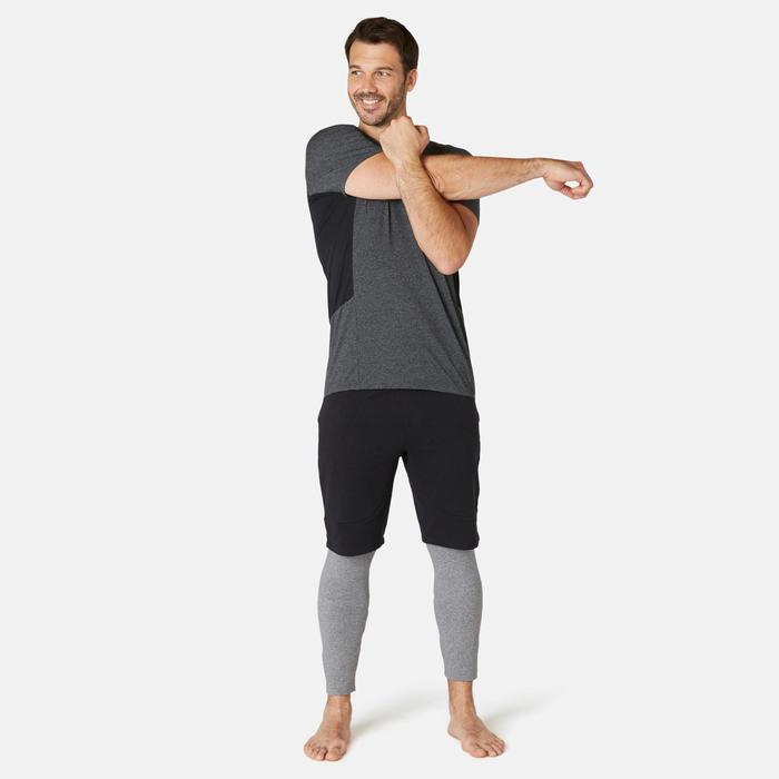 T-Shirt voor heren Slim 900 donkergrijs