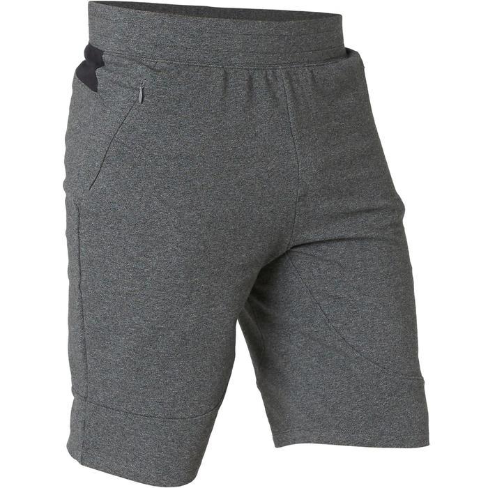溫和健身與皮拉提斯長版修身剪裁短褲900 - 深灰色