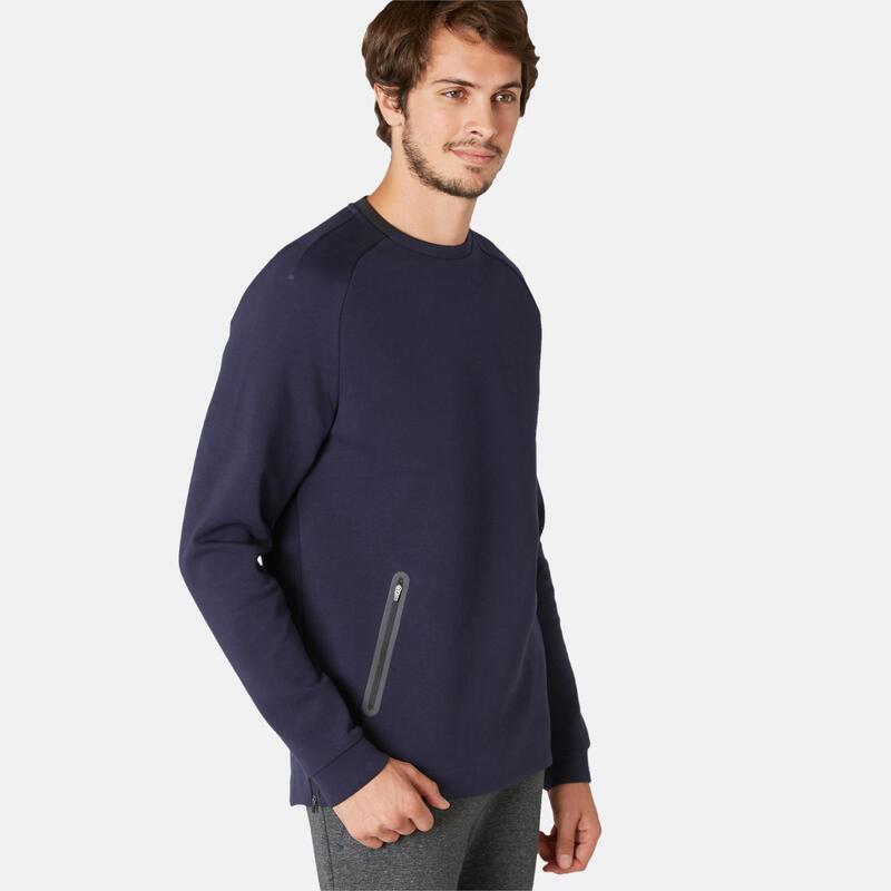 Trainingssweater Spacer heren 540 marineblauw