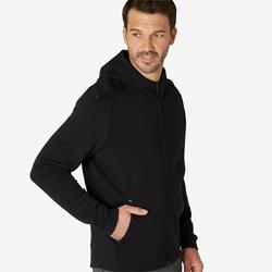 Hoodie met rits voor fitness ritszakken zwart