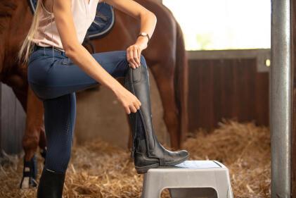 équitation : cuir ou synthétique