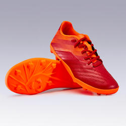 Kids' Football Boots Agility 140 FG - Burgundy/Orange