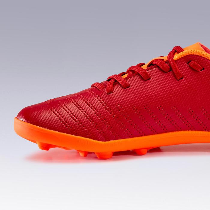 Voetbalschoenen kind Agility 140 FG bordeaux/oranje