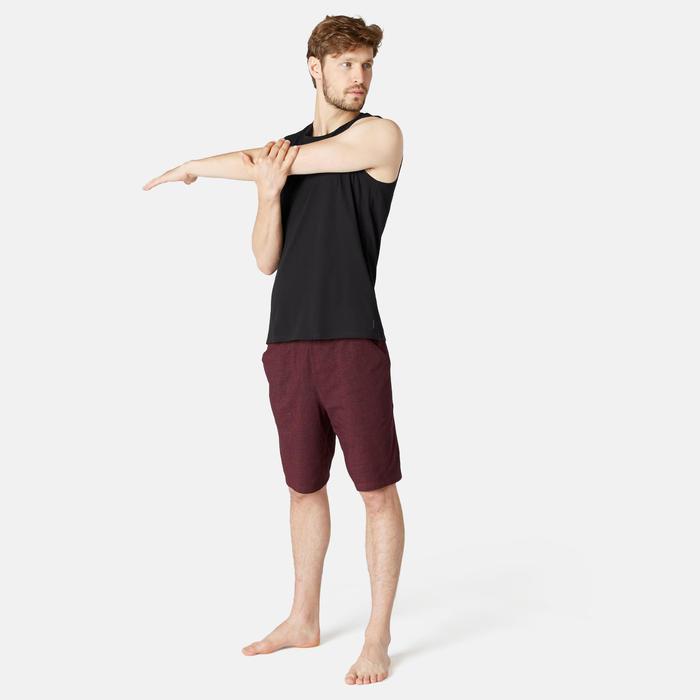 Áo thun thể thao không tay ôm vừa tập Gym & Pilates cho nam - Đen