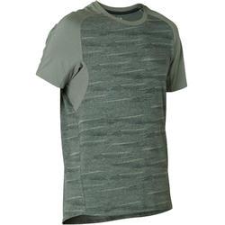 T-Shirt Sport Pilates Gym Douce homme 520 regular Kaki Printé