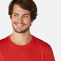 Playera Sport Pilates y Gimnasia suave hombre 500 Regular rojo