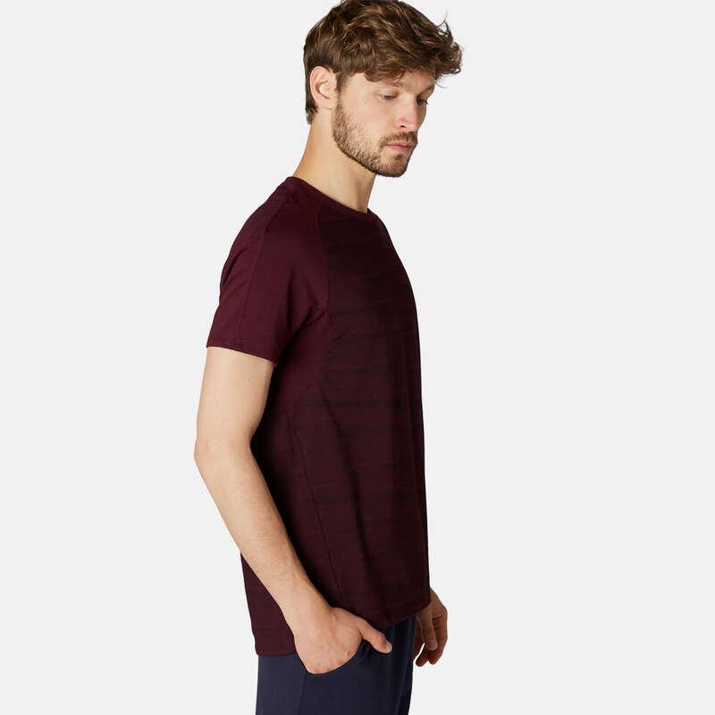 T-SHIRT E SHORT UOMO Ginnastica, Pilates - T-shirt uomo gym 520 bordeaux DOMYOS - Abbigliamento uomo