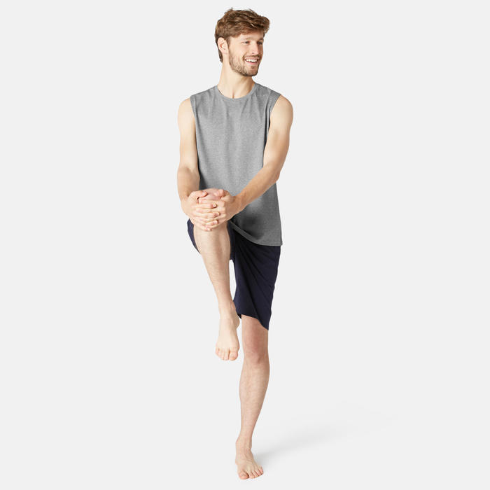 Débardeur Sport Pilates Gym Douce homme 500 Regular Gris