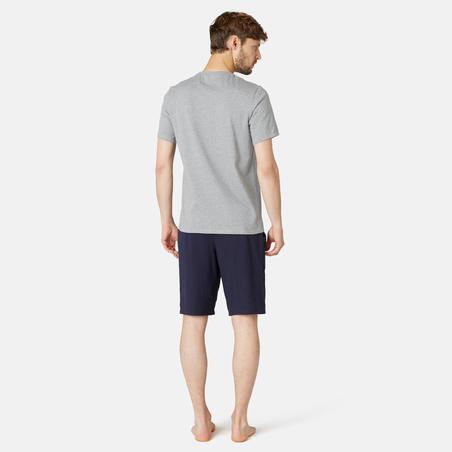 Men's T-Shirt 500 - Light Grey Marl
