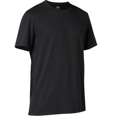 Camiseta Regular Sport Pilates y Gimnasia suave 500 hombre Negro