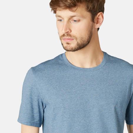 Kaus Reguler-Fit Pilates & Senam Ringan 500 - Biru Berbintik