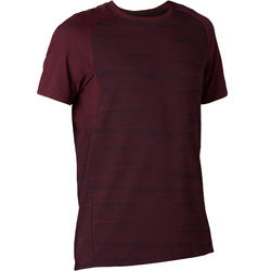 T-Shirt Sport Pilates Gym Douce homme 520 Regular Bordeaux Printé