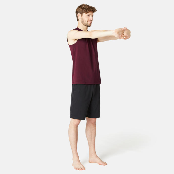 Débardeur Sport Pilates Gym Douce homme 500 Regular Bordeaux