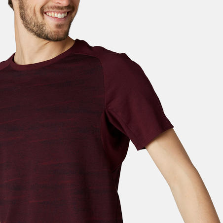 Men's T-Shirt 520 - Burgundy Pattern