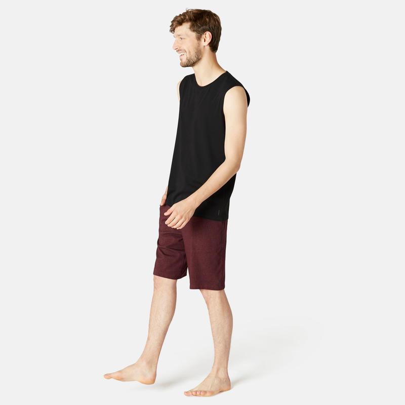 Men's Regular-Fit Pilates & Gentle Gym Sport Tank Top - Black