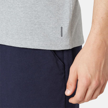 Men's Regular-Fit Pilates & Gentle Gym Sport T-Shirt 500 - Grey