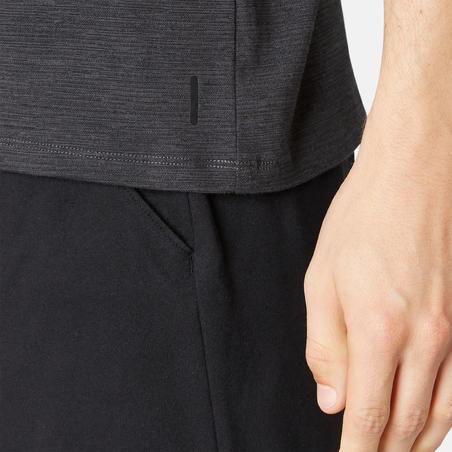 Fitness Stretch Cotton T-Shirt - Dark Grey Print