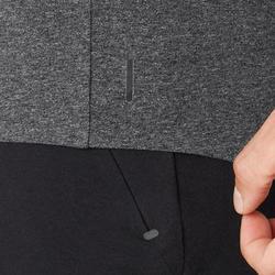 Men's Slim-Fit Tank Top 900 - Dark Mottled Grey