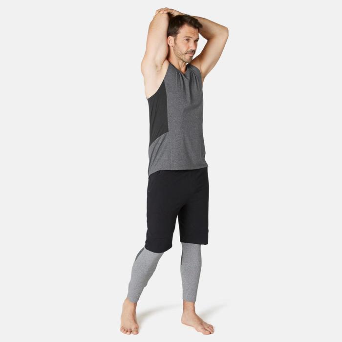 Débardeur Sport Pilates Gym Douce homme 900 Slim Gris Foncé