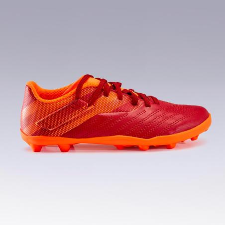 Agility 140 FG Velcro Firm Ground Soccer Cleats Burgundy/Orange - Kids