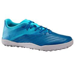 Voetbalschoenen kind Agility 140 HG klittenband blauw/grijs