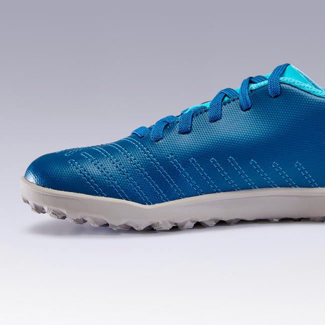 Kids' Football Shoes Agility 140 HG Lace-Up - Turquoise
