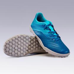 Kids' Football Shoes Agility 140 HG Rip-Tab - Blue/Grey