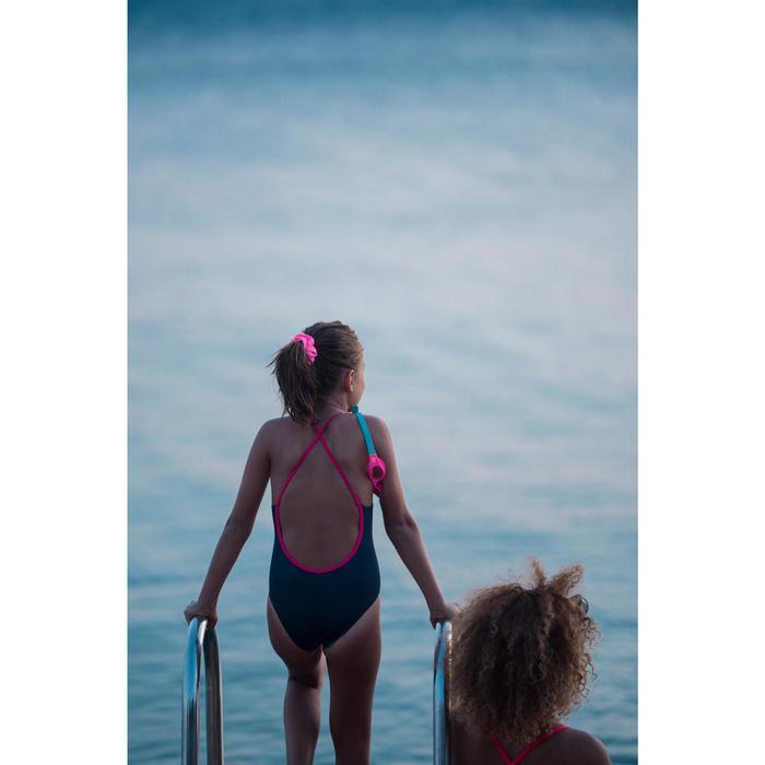 Fato de banho de natação Riana menina palmeiras sol azul