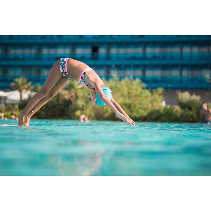 Maillot de natation fille deux pièces Riana skirt all mask vert