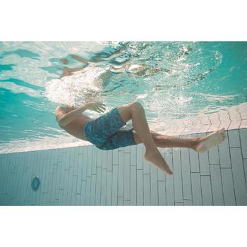 Lange zwemshort voor jongens 100 Tex blauw