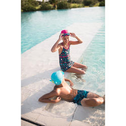 Mesh Fabric Swimming Cap, Sizes S and L Pink